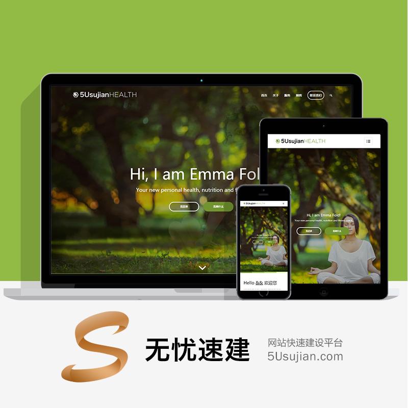 绿色响应式医疗健康主题个人博客/企业官网WordPress源码